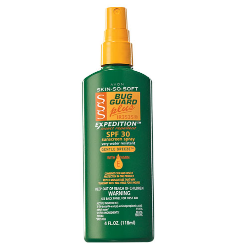 Sunscreen with insect repellent